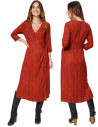 MAXIV0006E - Wrap Dress with Slit