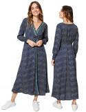 MCMAXI0046A - Blue Wrap Dress