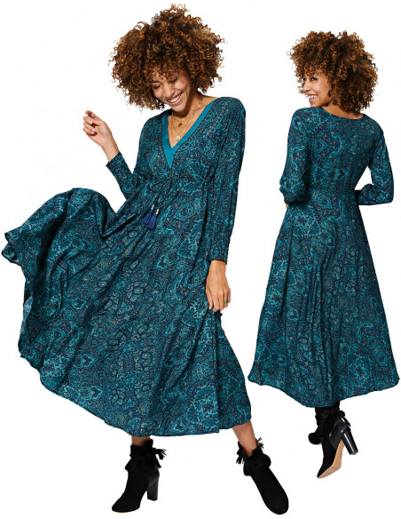 MCMAXI0047A - Long Swing Dress